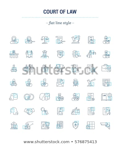 Emblem of Defender Icon Vector Outline Illustration Stock photo © pikepicture