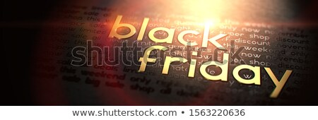 Black Friday - Macro Photo Of Gold Slogan Foto stock © Tashatuvango