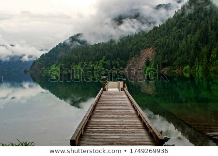 Dock on Lake Washington Stock photo © jsnover