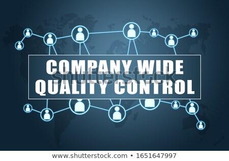 Firmy szeroki kontrola jakości tekst nowoczesne laptop Zdjęcia stock © Mazirama