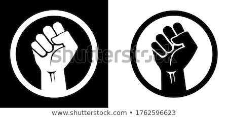 кулаком символ человека власти стороны Сток-фото © nomadsoul1