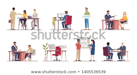 Boss and Worker, Employee and Employer Vector Stock photo © robuart