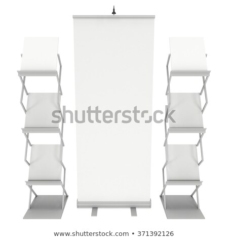 Roll up banner with rack for brochures Stock photo © montego