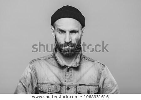 Fotoğraf iyi görünümlü sakallı erkek göz Stok fotoğraf © vkstudio