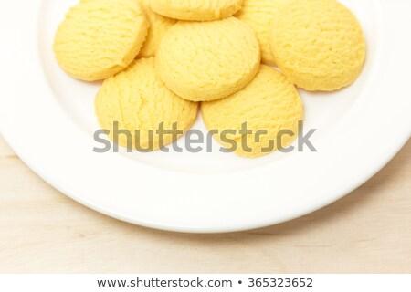 バター クッキー 黄麻布 袋 木製のテーブル 背景 ストックフォト © Alex9500