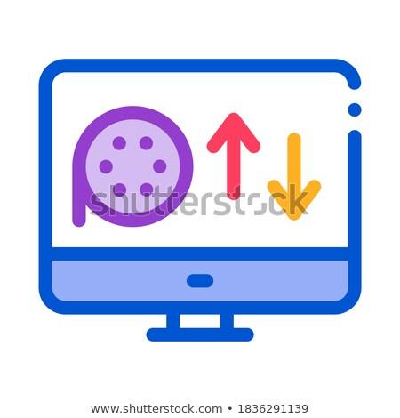 Online icona vettore contorno illustrazione segno Foto d'archivio © pikepicture