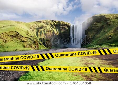 Turismo viajar Islândia mundo colapso indústria Foto stock © Kotenko