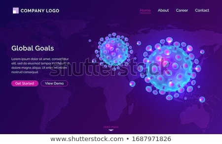 Coronavirus spreading in the world - isometric web banner Stock photo © Decorwithme