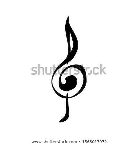 Treble clef at the beginning of the music sheet Stock photo © johnkwan
