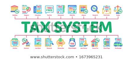 Steuer Finanzierung minimal Banner Vektor Stock foto © pikepicture