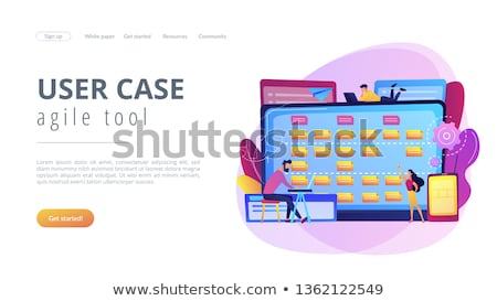 Yazılım gereklilik tanımlama iniş sayfa küçücük Stok fotoğraf © RAStudio