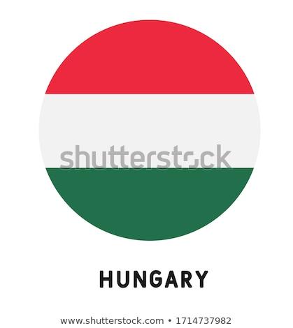 Węgry banderą biały podpisania podróży taśmy Zdjęcia stock © butenkow
