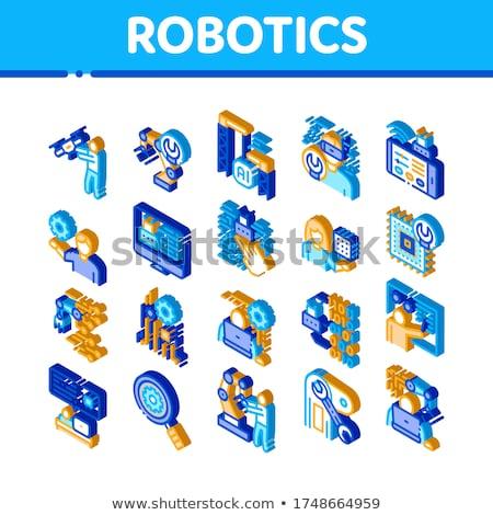 ロボット工学 マスター アイソメトリック ベクトル コレクション ストックフォト © pikepicture