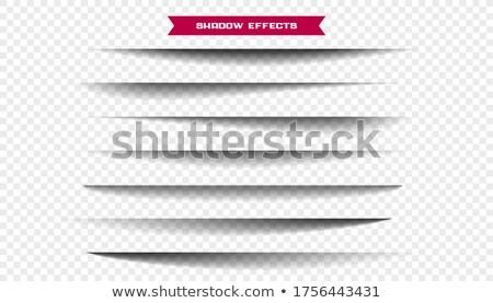 seven realistic wide paper sheet shadows set Stock photo © SArts