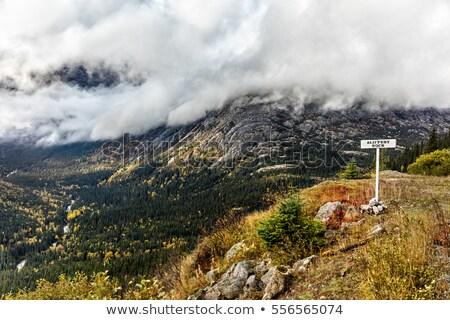 Bianco percorso treno scivoloso rock Foto d'archivio © Maridav