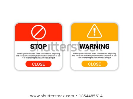 warning and stop sign button for web purpose Stock photo © SArts