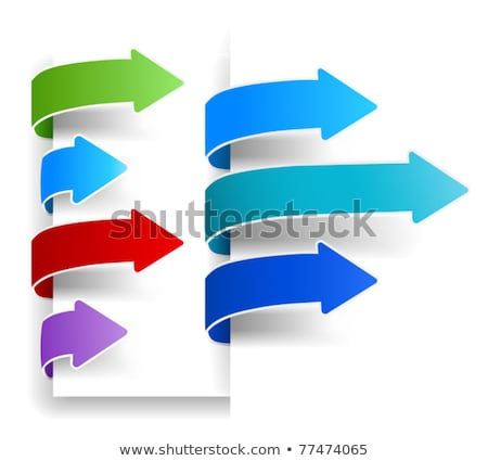 Set of arrows / ribbons for eshop Stock photo © orson