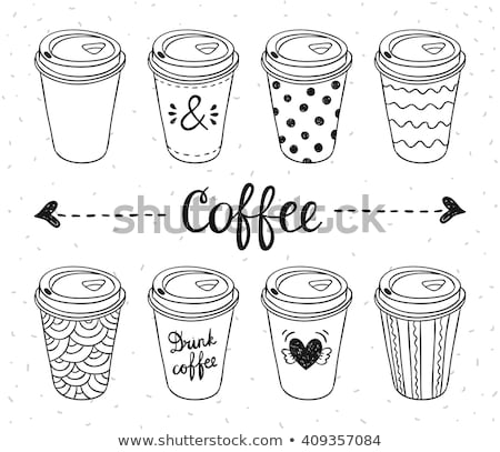 Illustration of coffee cup with love heart Stock photo © smeagorl