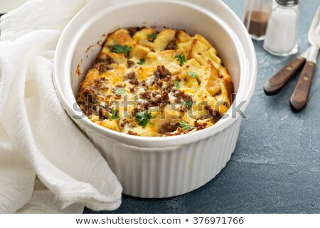 Hash Brown Strata or Breakfast Casserole Stock photo © StephanieFrey