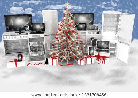 regalo · Screen · 3D · ordenador · modelo - foto stock © adamr