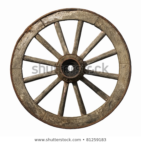 old wooden wheel stock photo © freelancer