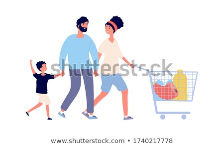 Parents with children in supermarket stock photo © Paha_L