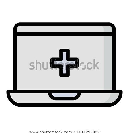 応急処置 · キット · ノートパソコンのキーボード · クローズアップ · 黒 · ノートパソコン - ストックフォト © spectral
