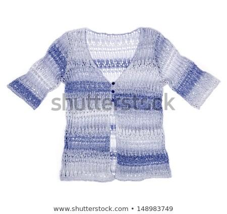 Feminine striped sweater with short sleeve Stock photo © RuslanOmega