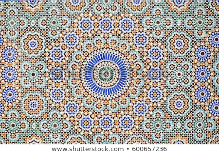 traditional arabic tiles in dubai stock photo © travelphotography