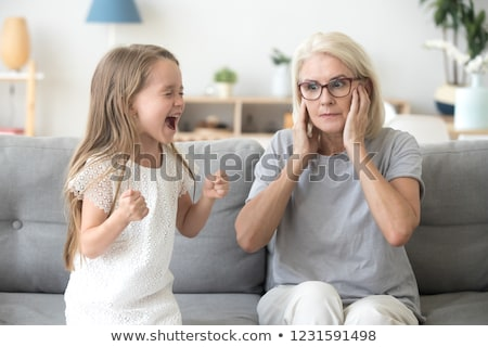 little girl shouting or tantrum stock photo © lovleah