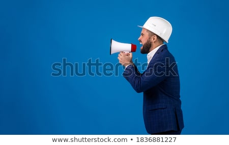 Construction worker shouting into a megaphone Stock photo © photography33