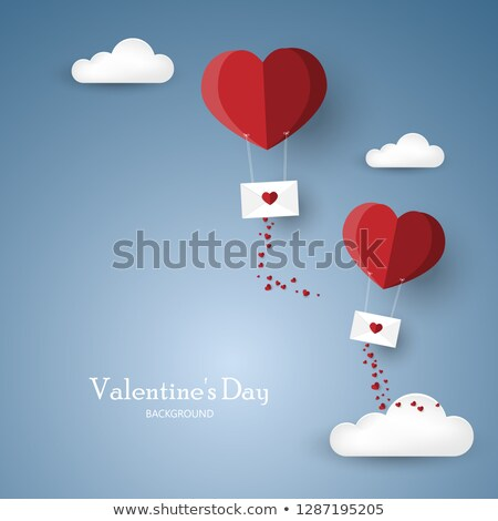 vector red heart in the envelope Stock photo © freesoulproduction