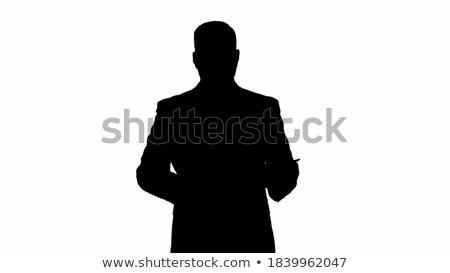 zakenman · werken · moderne · technologie · communiceren - stockfoto © HASLOO