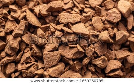 café · instantané · blanche · tasse · de · café · cuillère · isolé · carré - photo stock © latent