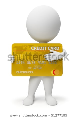 Stock photo: 3d Small People With A Credit Card