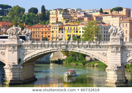 Bridge Il Tevere a Ponte Vittorio Emanuele II in Rome Stock photo © vladacanon