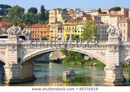 Bridge Il Tevere a Ponte Vittorio Emanuele II in Rome Stock photo © vladacanon