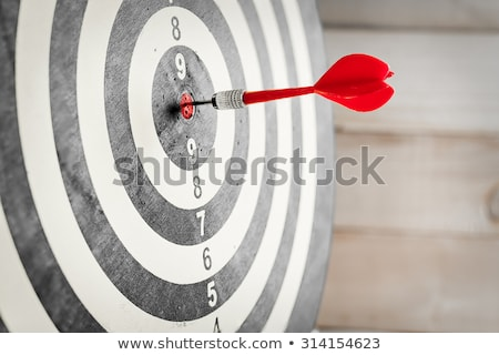 Direct Hit - Successful Bulls-Eye on Dart Board Stock photo © iqoncept