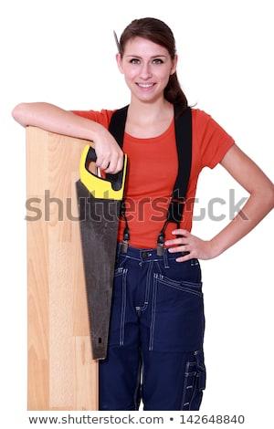 Charmant zag vrouw hand werknemer Stockfoto © photography33