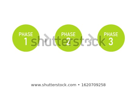 Stockfoto: Een · twee · vector · papier · vooruitgang · product
