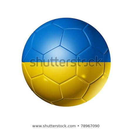 ウクライナ ボール サッカーボール フラグ 白 ストックフォト © olira