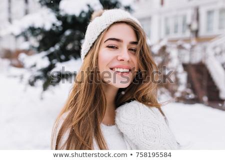 çekici genç sarışın açık havada ince güzellik Stok fotoğraf © lithian