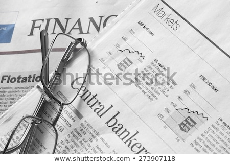 finansal · haber · gazete · beyaz - stok fotoğraf © devon
