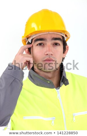 Traffic guard scratching his head Stock photo © photography33