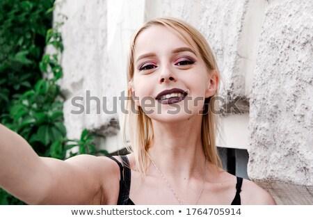 Joli cute Butt blanche Photo stock © stryjek