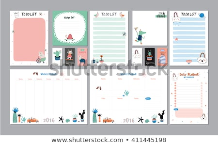 Organizing The Weekly Schedule In An Organizer Stock photo © stuartmiles