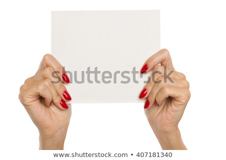 two hands with red nails stock photo © dolgachov