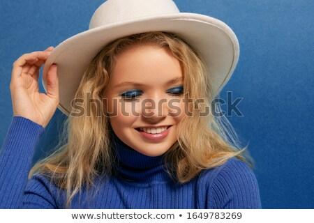 Güzel kız pembe balıkçı yaka makyaj Stok fotoğraf © vlad_star