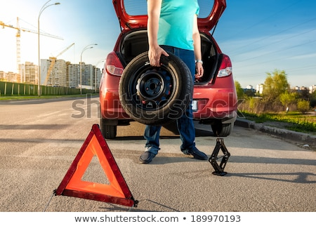 portrait of a man holding safety triangle Stock photo © photography33