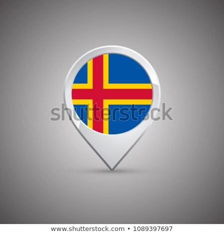 Aland rosette flag Stock photo © milsiart